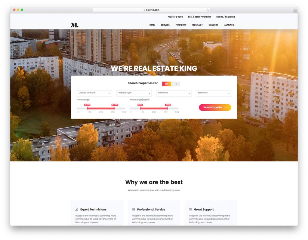 realestate free realstate website template